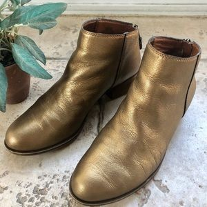 LUCKY Brand Gold Booties size 8